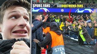 BORUSSIA DORTMUND FANS RUN OVER TO SPURS END | BVB vs Spurs - Heung min son (손흥민 / 孫興慜) GOAL!