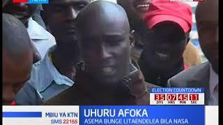 Eldoret residents display theatrics in support of Uhuru Kenyatta