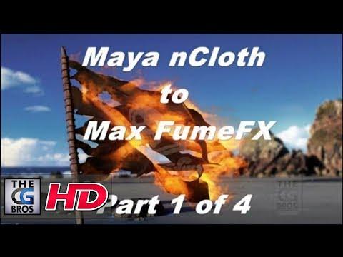 FumeFX Part 1 of 4 The Flaming Pirate Flag Tutorial (Maya nCloth to 3dsmax)
