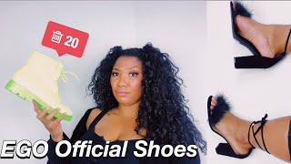 Never Again! Ego Official Shoe Haul Review | Curly Monroe