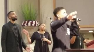 "15yr old Caleb Carroll sings Cover of ""Free Worshipper"" by Todd Dulaney @calebcarroll2020"