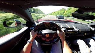 Ferrari 812 Superfast 320 km/h on Autobahn! - ORGASMIC SOUND!