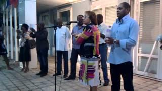 preview picture of video 'Gabrielle Louis-Carabin en campagne au Gosier le 7 juin : Soutien Jacques Gillot'