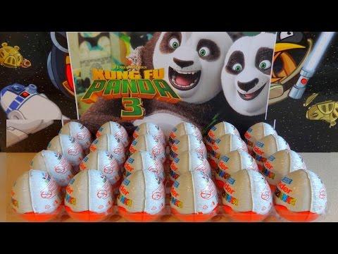 2016 Kung Fu Panda 3 Movie 24 Kinder Surprise Eggs Po - Kai - Mei Mei Toys letöltés