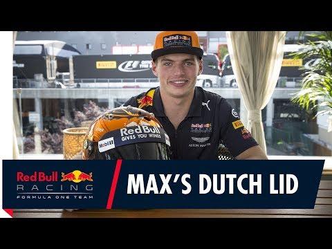 Max Verstappen's Dutch helmet for the Belgian GP