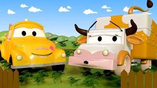 Autogaráž pro děti Z Amber je kráva - Tomova Autolakovna ve Městě Aut