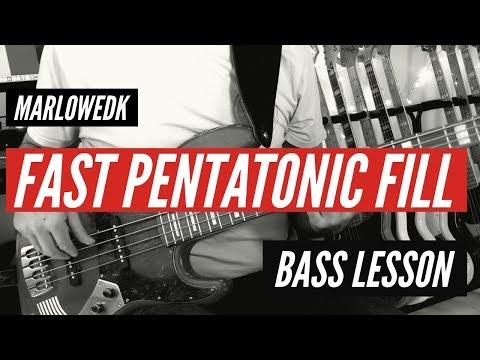 Fast pentatonic bass fill - MarloweDK bass lesson
