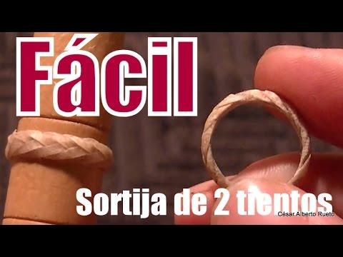 """Fácil sortija de 2 tientos (leather ring)  """"El Rincón del Soguero"""""""