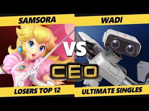 CEO 2019 SSBU - eU | Samsora (Peach) Vs. WaDi (ROB) Smash Ultimate Tournament LR2 Top 12