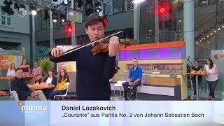 Live im moma-Café: Daniel Lozakovich spielt