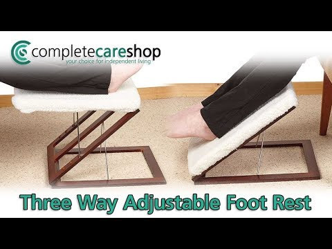 Three Way Adjustable Foot Rest Demo