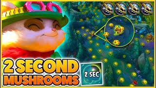 I get a 2 SECOND COOLDOWN on Teemo Mushrooms... (4 AIR Dragons) - BunnyFuFuu | League of Legends