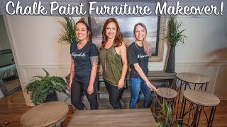 How To Chalk Paint Furniture *DIY*| Distressed Finish Tutorial | Console, Coffee, And Side Tables |