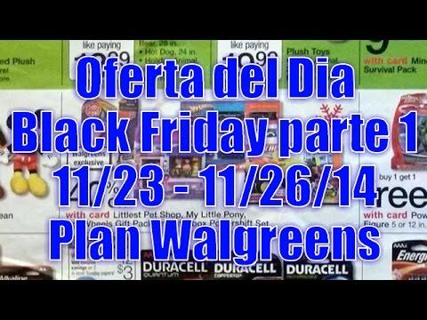 Oferta del Dia, Black Friday, parte 1 (11/23 - 11/26/14) Plan Walgreens   Casayfamiliatv