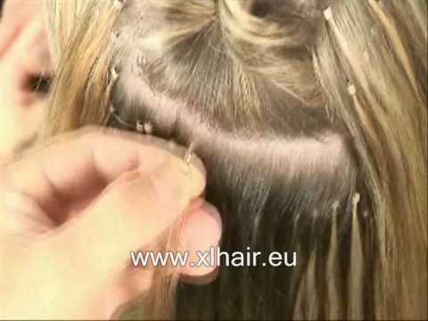 How to apply ring or link hair extensions
