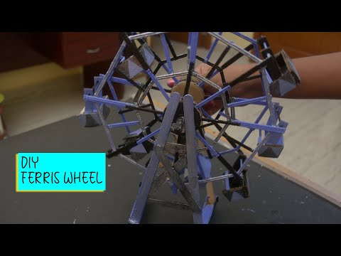 How to make Ferris Wheel with toothpicks..!!