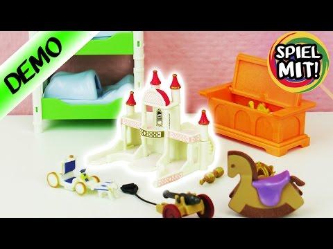 Playmobil Kinderzimmer aufbauen | Wem gehört dieses königliche Schlosskinderzimmer? Spiel mit mir