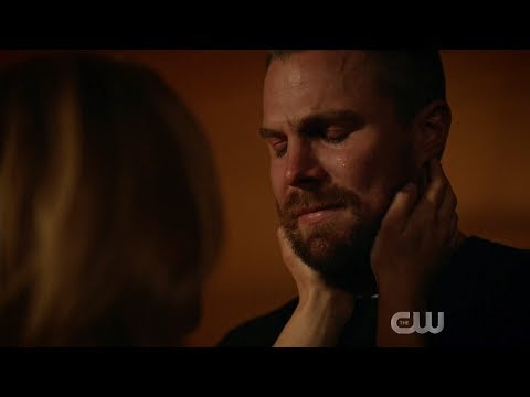 Arrow 7x22 Oliver says goodbye and Felicity and the Monitor in the future scene
