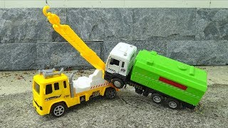 🚚 Truck crane, concrete mixer play with each other 🚚 S374T Toys for kids 🚚