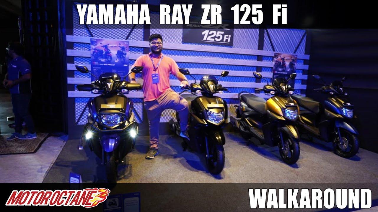 Motoroctane Youtube Video - 2020 Yamaha Ray ZR 125 FI and Street Rally 125 FI Walkaround | Hindi | MotorOctane