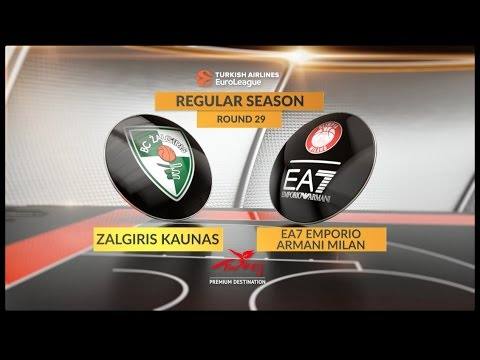 EuroLeague Highlights RS Round 29: Zalgiris Kaunas 84-88 EA7 Emporio Armani Milan