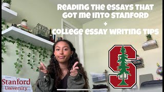 Reading My Essays that Got Me Into Stanford University (Plus College Essay Writing Tips!)