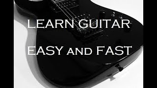 How To Play Electric Guitar -- LESSON 1 - Plain and Simple