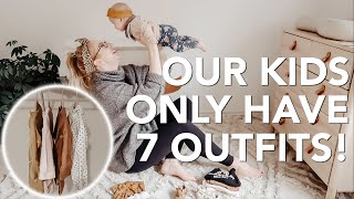 OUR KIDS ONLY HAVE ONE WEEKS WORTH OF CLOTHES | Kids Capsule Wardrobe!
