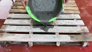 Creative Ideas From Cement And Wood Pallet - Great Garden Decoration From Recycled | Diy Aquarium