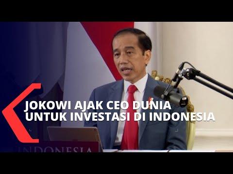lewat uu cipta kerja jokowi ajak ceo dunia investasi di indonesia