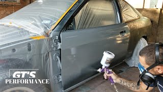 Painting The Mitsubishi - Rustoleum Smoke Gray