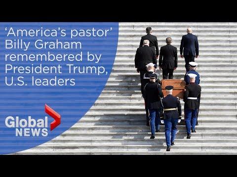 Trump honours Billy Graham as evangelist's body lies in repose inside Capitol