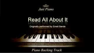 Read All About It (Pt. III) by Emeli Sandé (Piano Accompaniment)