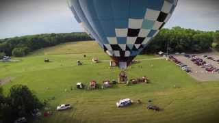 What is a hot air balloon tether?
