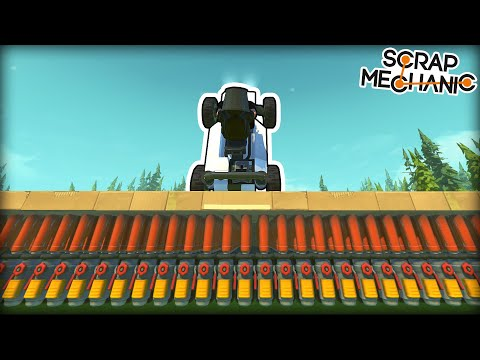 How Many Spudguns Does it Take to Launch a Car to Space? (Scrap Mechanic Gameplay)