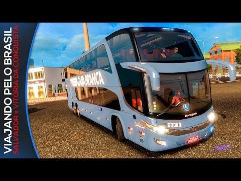 Rodando Pelo Brasil - Salvador-BA/Vitória da Conquista Ônibus Viação Águia Branca Euro Truck2 + G27