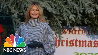 First Lady Melania Trump Receives White House Christmas Tree | NBC News NOW