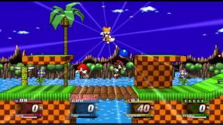 Super Smash Flash 2 Mod dark sonic vs super sonic - Most