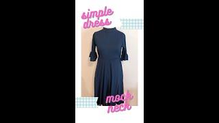 DIY Mock Neck Dress Sewing for Beginners | Sew Aldo #Shorts