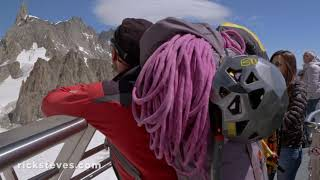 Thumbnail of the video 'Chamonix, Mont Blanc, and the Aiguille du Midi'