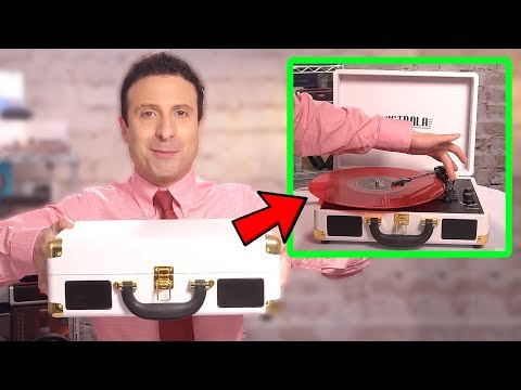 Best Portable Bluetooth Turntable Record Player - Unboxing & Review!