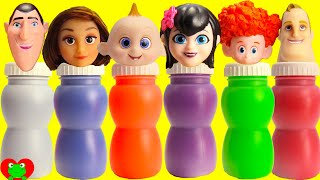 Disney The Incredibles 2 and Hotel Transylvania 3 Slime Bottles