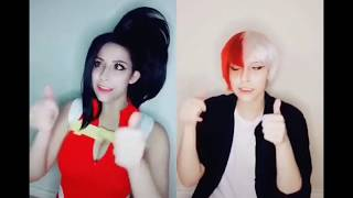 Momo Yaoyorozu (Bnha/Mha) Tik tok musical.ly cosplay compilation
