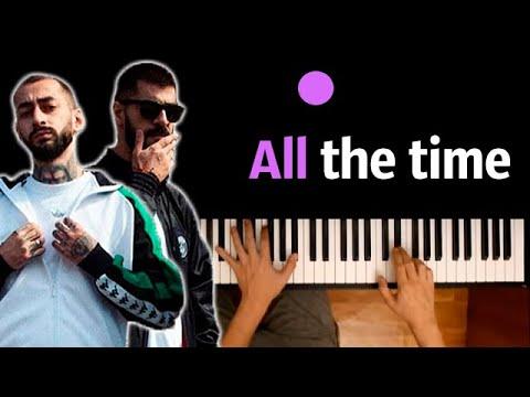 Miyagi & Andy Panda - All The Time ● караоке | PIANO_KARAOKE ● ᴴᴰ + НОТЫ & MIDI