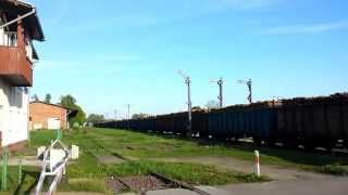 preview picture of video 'PKP Cargo freight train at Giżycko station'