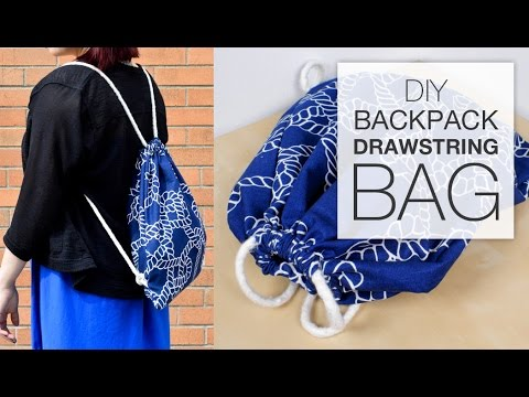 DIY Backpack Drawstring Bag