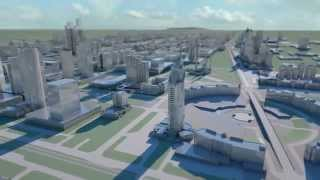 preview picture of video 'Astana 3D city flights'
