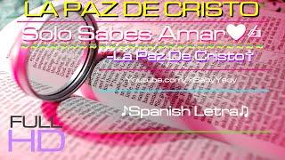 """""""♛Solo Sabes Amar♡"""" ☁La Paz De Cristo♢ (♪Letra✍)"""