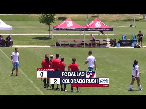 2019 Development Academy Finals: U15 Girls Semifinal - FC Dallas vs. Colorado Rush