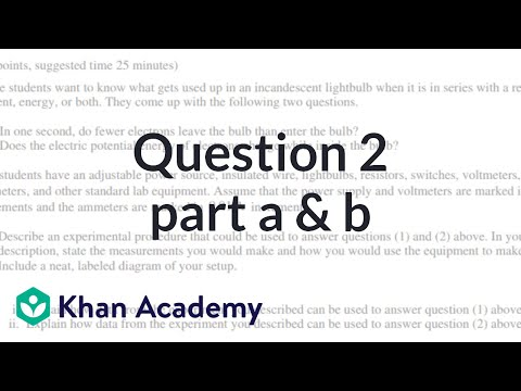 Question 2ab: 2015 AP Physics 1 free response (video